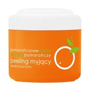 ziaja peeling myjący średnioziarnisty pomarańczowy 200ml drogeria premium
