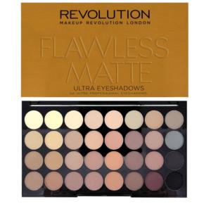 Makeup Revolution Flawless Matte - paleta 32 cieni do powiek DrogeriaPremium.pl