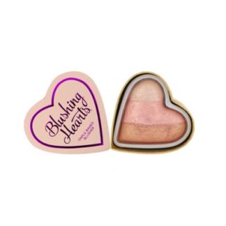 Makeup Revolution I Heart Makeup Blushing Hearts Iced Hearts - róż rozświetlacz DrogeriaPremium.pl