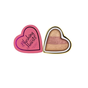 Makeup Revolution I Heart Makeup Blushing Hearts Peachy Keen Heart - róż rozświetlacz DrogeriaPremium.pl