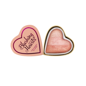 Makeup Revolution I Heart Makeup Blushing Hearts Peachy Pink Kisses - róż rozświetlacz DrogeriaPremium.pl