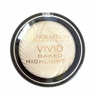 Makeup Revolution Vivid Baked Highlighter - wypiekany rozświetlacz do twarzy Golden Lights DrogeriaPremium.pl