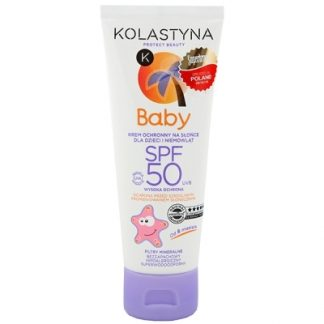 Kolastyna Krem ochronny na słońce dla dzieci i niemowląt SPF50 DrogeriaPremium.pl