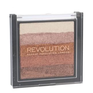 Makeup Revolution, Shimmer Brick Rose Gold - bronzer i rozświetlacz w jednym